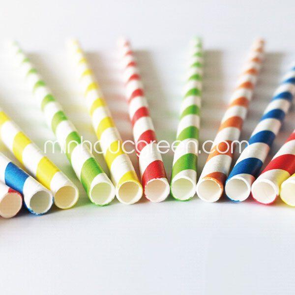 ống hút giấy nhiều màu