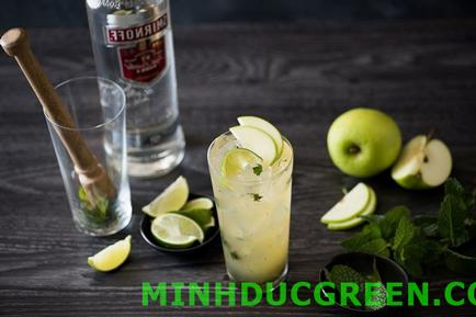 cách pha chế vodka với táo