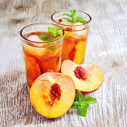 Cách làm trà đào thơm mát giải nhiệt