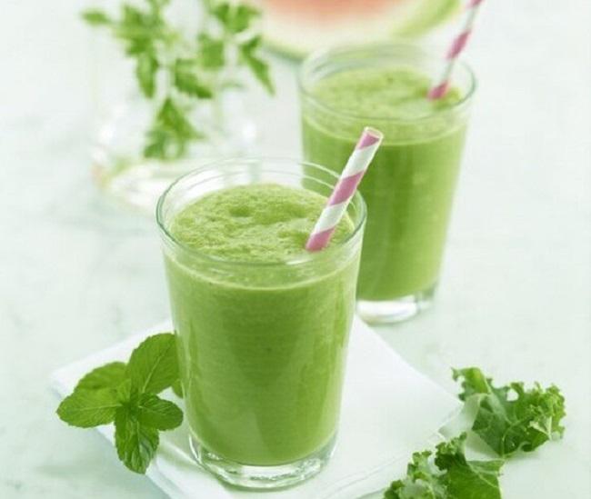 Cách làm sinh tố rau má đậu xanh